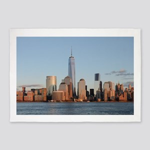 Lower Manhattan Skyline, New York C 5'x7'Area Rug